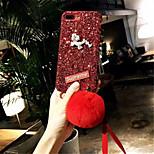 Недорогие -Кейс для Назначение Apple iPhone X iPhone 7 Plus Стразы Сияние и блеск Кейс на заднюю панель Сияние и блеск Твердый ПК для iPhone X