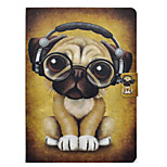 cheap -Case For Apple iPad 10.5 iPad Pro 9.7 Card Holder with Stand Flip Pattern Full Body Cases Dog Hard PU Leather for iPad Mini 4 iPad Mini