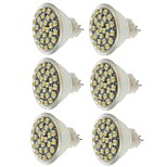 abordables -SENCART 6pcs 2W 140-180 lm MR11 Focos LED MR11 30 leds SMD 3528 Decorativa Blanco Cálido Blanco Fresco Amarillo DC 12V