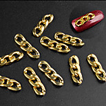 cheap -10 Nail Jewelry Metallic Special Design Casual/Daily Nail Art Design