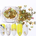 cheap -1pcs Nail Glitter Sequins Laser Holographic Sparkle & Shine Nail Art Design