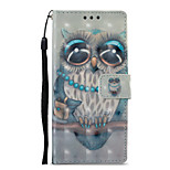 cheap -Case For Sony Xperia XZ1 Xperia XA1 Card Holder Wallet with Stand Flip Pattern Full Body Cases Owl Hard PU Leather for Sony Xperia XZ1