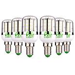 Недорогие -YWXLIGHT® 6шт 5 Вт. 300-500 lm E14 LED лампы типа Корн 48 светодиоды SMD 3014 Тёплый белый Холодный белый AC / DC 12-24V