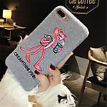 Недорогие -Кейс для Назначение Apple iPhone X iPhone 7 Plus С узором Кейс на заднюю панель Мультипликация Мягкий ТПУ для iPhone X iPhone 8 Pluss