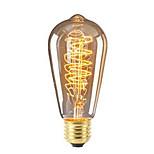 preiswerte -1pc 40W E26/E27 ST64 Warmes Weiß 2200-2700 K Retro Abblendbar Dekorativ Glühbirne Vintage Edison Glühbirne 220V-240V