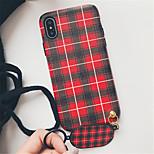 Недорогие -Кейс для Назначение Apple iPhone X iPhone 7 Plus С узором Кейс на заднюю панель Полосы / волосы Твердый ПК для iPhone X iPhone 8 Pluss