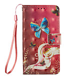 cheap -Case For Xiaomi Redmi Note 5A Redmi Note 4X Card Holder Wallet with Stand Flip Pattern Full Body Cases Butterfly Hard PU Leather for