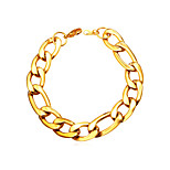 cheap -Men's Women's Stainless Steel Chain Bracelet - Basic Fashion Gold Black Silver Bracelet For Daily