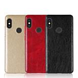Недорогие -Кейс для Назначение Xiaomi Redmi Note 5 Pro Redmi 5 Plus Рельефный Кейс на заднюю панель Однотонный Твердый Кожа PU для Xiaomi Redmi Note