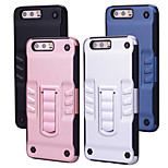 cheap -Case For Huawei P10 Shockproof with Stand Back Cover Solid Colored Hard PC for P10