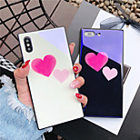 cheap -Case For Apple iPhone X iPhone 8 Shockproof Pattern Back Cover Heart Hard Tempered Glass for iPhone X iPhone 8 Plus iPhone 8 iPhone 7