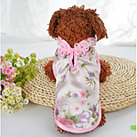 cheap -Dogs Cats Coat Dog Clothes Embroidered Green Pink Silk Costume For Pets Female Stylish Ethnic