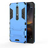 cheap -Case For Nokia Nokia 9 Nokia 6 2018 Shockproof with Stand Back Cover Armor Hard PC for Nokia 9 Nokia 8 Nokia 7 Nokia 6 2018 Nokia 3