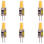 abordables -WeiXuan 6pcs 2W 160lm G4 Luces LED de Doble Pin T 1 Cuentas LED COB Blanco Cálido Blanco Fresco 12V