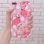 Недорогие -Кейс для Назначение Apple iPhone 6 Plus / iPhone 7 Plus С узором Кейс на заднюю панель Фламинго Твердый ПК для iPhone 7 Plus / iPhone 7 /