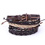 cheap -Men's Wrap Bracelet , Vintage Leather Brown Irregular Jewelry Daily Bar Costume Jewelry