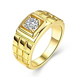 cheap -Men's Cool Zircon / Gold Plated Band Ring - Circle Rock Gold Ring For Daily / Work