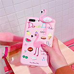 cheap -Case For Apple iPhone X iPhone 7 Plus Pattern Back Cover 3D Cartoon Soft TPU for iPhone X iPhone 8 Plus iPhone 8 iPhone 7 Plus iPhone 7