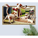 cheap -Wall Decal Decorative Wall Stickers - 3D Wall Stickers Abstract Animals Removable