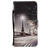 preiswerte -Hülle Für Huawei Mate 10 Mate 10 Lite Kreditkartenfächer Geldbeutel mit Halterung Flipbare Hülle Magnetisch Ganzkörper-Gehäuse Stadtblick