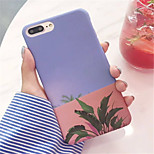 cheap -Case For Apple iPhone 6 Plus iPhone 7 Plus Frosted Pattern Back Cover Flower Hard PC for iPhone 8 Plus iPhone 8 iPhone 7 Plus iPhone 7