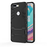 cheap -Case For OnePlus OnePlus 5T 5 Shockproof with Stand Back Cover Armor Hard PC for One Plus 5 OnePlus 5T