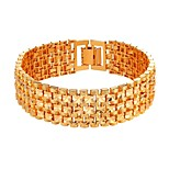 cheap -Men's Women's Chain Bracelet Fashion Copper Gold Silver Jewelry Daily Costume Jewelry