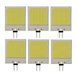 cheap -SENCART 6pcs 10W 300lm lm G4 LED Bi-pin Lights T 48pcs leds COB Decorative Cold White 12V