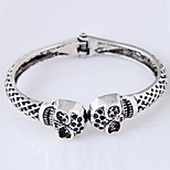 cheap -Men's Women's Cuff Bracelet - Vintage Fashion European Skull Silver Bracelet For Daily