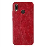 cheap -Case For Huawei P20 lite P20 Ultra-thin Back Cover Solid Colored Hard PU Leather for Huawei P20 lite Huawei P20