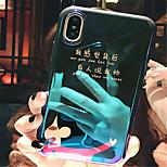 Недорогие -Кейс для Назначение Apple iPhone X / iPhone 7 Plus С узором Кейс на заднюю панель Слова / выражения Мягкий ТПУ для iPhone X / iPhone 8
