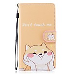 cheap -Case For Huawei P10 Lite P8 Lite (2017) Card Holder Wallet with Stand Flip Pattern Full Body Cases Dog Hard PU Leather for P10 Lite P8