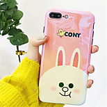 cheap -Case For Apple iPhone X / iPhone 7 Plus Pattern Back Cover Cartoon Soft TPU for iPhone X / iPhone 8 Plus / iPhone 8