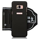 economico -Custodia Per Samsung Galaxy S8 Plus S8 Fasce da braccio per sport Porta-carte di credito Resistente agli urti Fascia da braccio Tinta