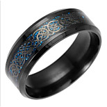 cheap -Men's Dragon Statement Ring / Band Ring - European Gold / Black / Blue Ring For Daily