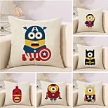 cheap -6 pcs Cotton/Linen Pillow Case Novelty Pillow Pillow Cover, 3D Anime Novelty Creative Cool