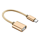 cheap -OTG Type-C USB Cable Adapter OTG Adapter For Macbook Samsung Huawei LG Nokia Lenovo Xiaomi Motorola HTC Sony MacBook Pro 20cm Aluminum