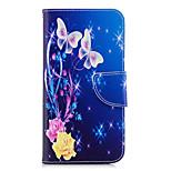 Недорогие -Кейс для Назначение Huawei P20 lite P20 Бумажник для карт Кошелек со стендом Флип С узором Чехол Бабочка Твердый Кожа PU для Huawei P20