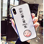 cheap -Case For Apple iPhone X iPhone 8 Shockproof Pattern Back Cover Word / Phrase Cartoon Hard Tempered Glass for iPhone X iPhone 8 Plus