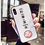 Недорогие -Кейс для Назначение Apple iPhone X iPhone 8 Защита от удара С узором Кейс на заднюю панель Слова / выражения Мультипликация Твердый