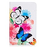 cheap -Case For Amazon Kindle Fire 7(5th Generation, 2015 Release) Card Holder Wallet with Stand Pattern Full Body Cases Butterfly Hard PU