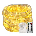 cheap -10m String Lights Light Sets 100pcs LEDs Warm White White Color-changing Waterproof Decorative Batteries Powered 1set