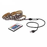 Недорогие -1m Пульты управления RGB ленты Наборы ламп 30pcs светодиоды 1 пульт дистанционного управления 24Keys 1 кабель переменного тока RGB Можно