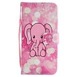 preiswerte -Hülle Für Huawei Mate 10 Mate 10 Lite Kreditkartenfächer Geldbeutel mit Halterung Flipbare Hülle Magnetisch Ganzkörper-Gehäuse Elefant