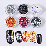 cheap -6pcs Nail Glitter Glitters Nail Glitter Special Designed Casual / Daily Nail Art Design