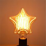 Недорогие -1шт 40 Вт E26/E27 Звезда Тёплый белый 2200-2700k К Ретро Диммируемая Декоративная Лампа накаливания Vintage Эдисон лампочка 220-240V