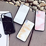 cheap -Case For Apple iPhone X iPhone 8 Shockproof Pattern Back Cover Marble Hard Tempered Glass for iPhone X iPhone 8 Plus iPhone 8 iPhone 7