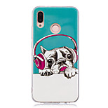 cheap -Case For Huawei P20 lite P20 Pro Glow in the Dark IMD Pattern Back Cover Dog Shine Soft TPU for Huawei P20 lite Huawei P20 Pro Huawei P20