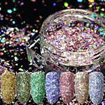 cheap -12pcs Glitter Powder Laser Holographic Sparkle & Shine Sequins Sparkling Nail Art Design