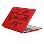 cheap -MacBook Case for Romantic / Word / Phrase / Heart Plastic New MacBook Pro 15-inch / New MacBook Pro 13-inch / Macbook Pro 15-inch